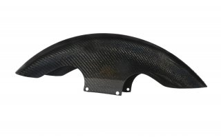 Shorty Bagger Carbon Fiber Front Fender 19