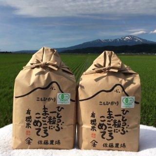 有機栽培米コシヒカリ6kg(3kg×2個入り)