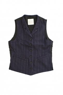 OLD JOE & Co For WOMEN - SACK VEST - NAVY STRIPE