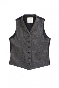 OLD JOE & Co For WOMEN - SACK VEST - GREY HERRINGBONE