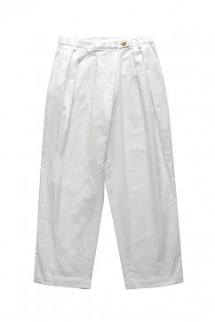 humoresque - TAPERED PANTS - WHITE