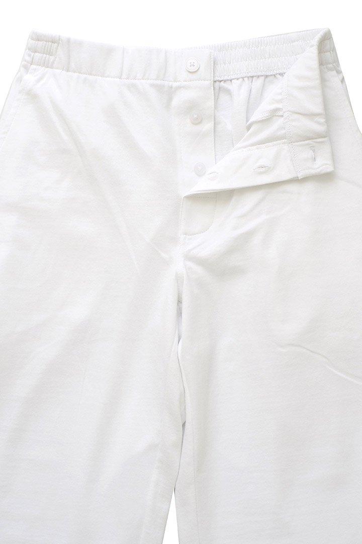 SLEEPY JONES WOMEN'S - STEVIE CUFFED KNIT PANT - SOLID JERSEY WHITE