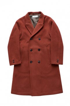WRYHT - BEAVER CLOTH DOUBLE BREASTED COAT - CAYENNE