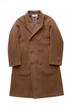 WRYHT - BEAVER CLOTH DOUBLE BREASTED COAT - SIENNA