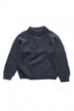 WRYHT - MOHAIR CREW NECK SWEATER - GRAPHITE