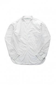 WRYHT- STUD BUTTON BAND COLLAR SHIRTS - BONE