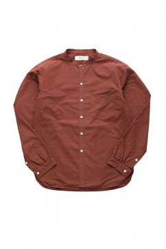 WRYHT- STUD BUTTON BAND COLLAR SHIRTS - CAYENNE