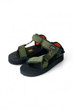 284e8be5c9ce Nigel Cabourn woman × SUICOKE - NAM SANDALS - NAM GREEN × BLACK ¥ 22