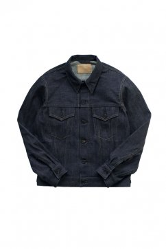 WRYHT - FRENCH COLLAR JEAN JACKET- INDIGO LAW