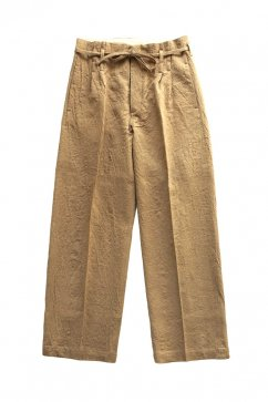 PANTS - WRYHT - STRING WAIST WORK TROUSER - DUNE - Price 32,400 tax-in