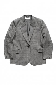 WRYHT - PEAKED LAPEL ARTISAN SACK JACKET - GLEN CHECK