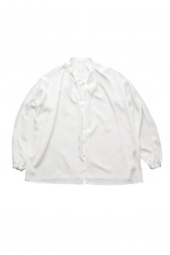 humoresque - GATHER BLOUSE SILK - WHITE