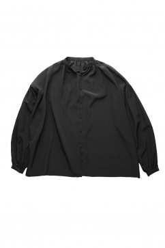 humoresque - GATHER BLOUSE SILK - BLACK
