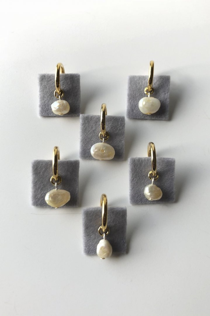 EARRING - MERCERIE GRAIN D'AILE - RIVER PEARL Earrings - PRICE 9,350 tax-in
