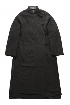 WRYHT - ASYMMETRY FRONT REVERSIBLE ORIENTAL COAT - GRAPHITE