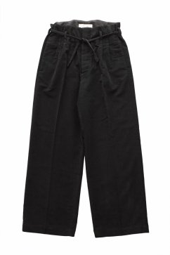 WRYHT - STRING WAIST WORK TROUSER - BLACK