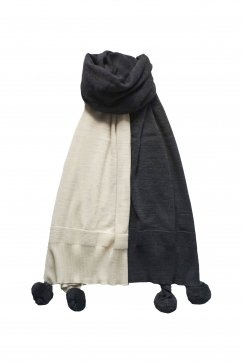 Nigel Cabourn woman - BIG STOLE - IVORY