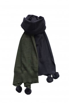 Nigel Cabourn woman - BIG STOLE - GREEN