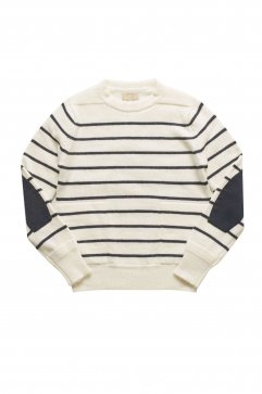 Nigel Cabourn - CREW NECK SWEATER - WHITE