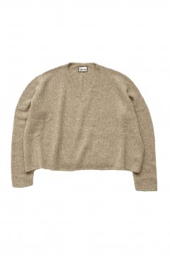 TOPS - humoresque - V-NECK PULLOVER - BEIGE - Price 71,280 tax-in