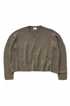 humoresque - V-NECK PULLOVER - GRAY