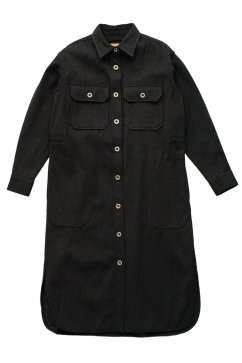 Nigel Cabourn woman - LONG CPO SHIRT - CHACOAL