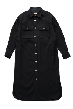 Nigel Cabourn woman - LONG CPO SHIRT - NAVY
