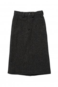Nigel Cabourn woman - BASIC LONG SKIRT WASHABLE WOOL - GREY