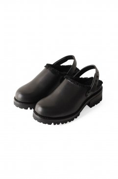 SHOES - FEIT - SHEARLING CLOG - BLACK - Price 86,400 tax-in