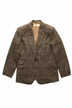 JACKET - WRYHT - PEAKED LAPEL ARTISAN SACK JACKET - GREN CHECK SIENNA - Price 73,440 tax-in