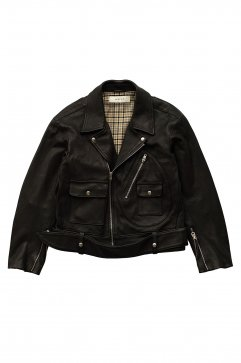 JACKET - WRYHT - KNOTTED WAIST MOTO JACKET - BLACK - Price 194,400 tax-in