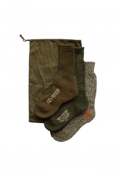 Nigel Cabourn woman - 3-PACK ARMY SOCKS - OLIVE
