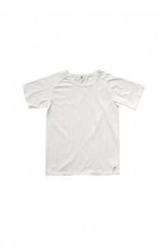 Nigel Cabourn woman - CREW NECK T-SHIRT - WHITE