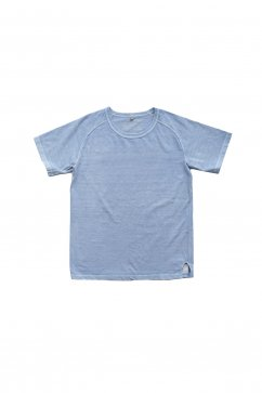 Nigel Cabourn woman - CREW NECK T-SHIRT - PIGMENT BLUE