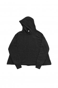 humoresque ★★★ - CASHMERE HOOD PULLOVER - CHACOAL