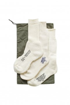 Nigel Cabourn woman - 3-PACK ARMY SOCKS - ECRU