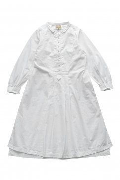 Nigel Cabourn woman - COTTON DRESS - WHITE