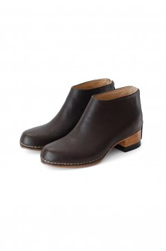 FEIT - BI-COLOR CEREMONIAL MID HEEL BOOTIE - DARK GREY