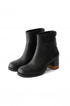 FEIT - BI-COLOR HEEL BOOT - BLACK