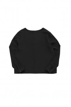 humoresque - CREW NECK BLOUSE - BLACK SILK