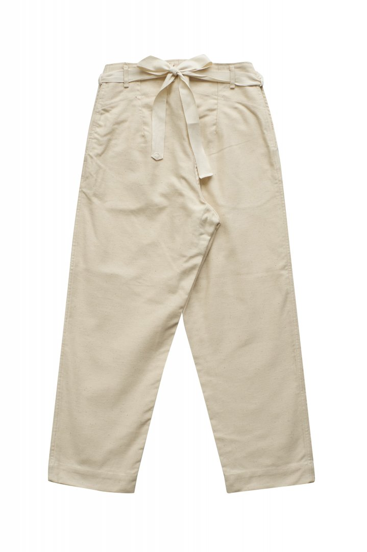 Nigel Cabourn WOMEN'S - DECK WORKER PANT MOLESKIN IVORY - PRICE 28,600 tax-in