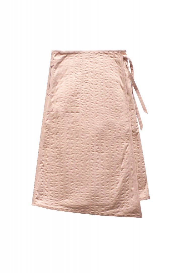 SKIRT - WRYHT - REVERSIVLE QUILT SKIRT - CORAL - PRICE 58,300 tax-in