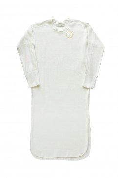 WRYHT- CREW-NECK RIBBED DRESS - NATURAL