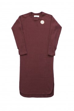 WRYHT- CREW-NECK RIBBED DRESS - PORT