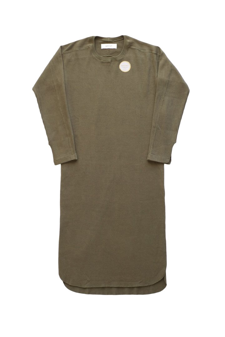 WRYHT- CREW-NECK RIBBED DRESS