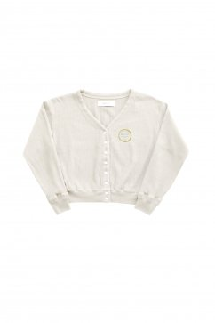 WRYHT- OPEN FRONT RIBBED TOP - NATURAL