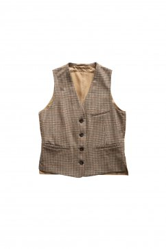 WRYHT - COUNTRY SACK VEST - COGNAC PLAID