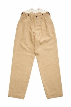 Nigel Cabourn WOMEN'S - FRENCH WORK PANT - HIGH DENSITY LINEN - BEIGE