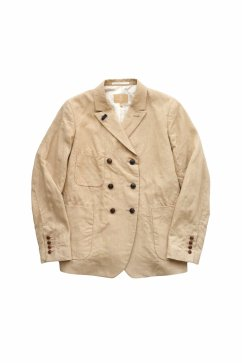 Nigel Cabourn woman - FRENCH WORK DB JACKET LINEN - HIGH DENSITY LINEN - BEIGE