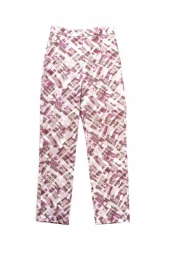 WRYHT- FRONT TUCK TROUSER - ROSE STRIPE